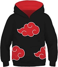 LoveCos Kids 3D Printed Anime Hoodie Hatake Kakashi Cosplay Pullover Sweatshirt for Child