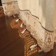 กรีซRetroสไตล์ผ้าฝ้ายลินินHandmade Hollowปักพู่Hemกึ่งแรเงาผ้าม่านสำเร็จรูปBeige 175ซม.ความกว้าง
