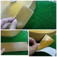PVC 雙色止滑膠帶 背膠自黏式膠帶 5CM X 20公尺 雙彩貼固防滑條 條紋止滑條 適用於地磚、不銹鋼、平滑表面等