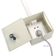 戶外防水明盒 明裝開關插座防水盒防濺盒明線戶外帶鎖防盜電插座箱電瓶車充電盒