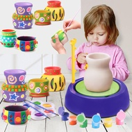 New Hot Child Pottery Wheel Pottery Studio Craft Kit Artist Studio Ceramic Machine with Clay Educational Toy for Kids