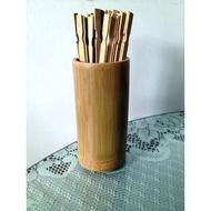 竹藝坊-此價格不含籤,素面竹籤筒,卜卦籤筒,抽籤筒.串燒竹籤丟棄筒