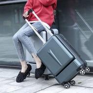"""20 """"24"""" นิ้วผู้หญิงกระเป๋าเดินทางแบบลากกระเป๋าเดินทางพร้อมกระเป๋าแล็ปท็อปผู้ชายล้อสากลรถเข็น ABS กล่องกระเป๋าเดินทางแฟชั่น"""