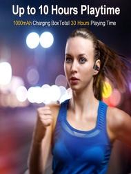 หูฟังหูฟังไร้สายสำหรับกีฬาสมาร์ทโฟนAuricularesหูฟังบลูทูธหูฟังTWSฟันสีฟ้าชุดหูฟังโทรศัพท์