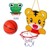 現貨  體育運動娛樂玩具 卡通籃球架 青蛙老虎2款 室內外籃球板  兒童巧虎懸掛式