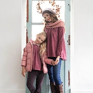PIPPY 絨布保暖雙層長褲 紫/深灰