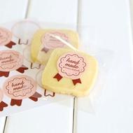 Littlegroot 15Pcs Buatan Tangan Kertas Stiker Label Segel Kerajinan Hadiah Makanan Cookie Stiker Pesta