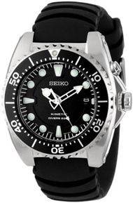 Seiko Watches Seiko Mens SKA413 Adventure Stainless Steel Kinetic Diver Watch