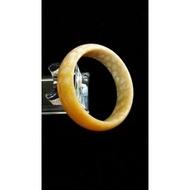 尋寶樂子 台灣製作 天然珊瑚化石菊花天然珊瑚化石菊花玉(又名發財玉)玉鐲 手鐲 手環 L0002 手圍:16.5