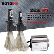 AOTOINK 2Pcs ZES Chips H7 H4 Led H11 H1 H8 H11 Bulb Car Headlights With Fan Led Fog Light 9600LM 60W White 12V IJ IF