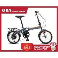 "READY STOCK FOLDING BIKE GOMAX/BNB 16 / 20 "" Folding Bike/TREAKING Basikal Lipat TREKING FOLDING BIKE 16 INCH"