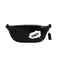 COACH  MARVEL聯名對話框塗鴉風腰包(黑)
