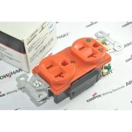 冷處理版-320度F COOPER IG8300RN 125V 20A 橘色醫療級插座 DUPLEX型