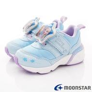 日本月星Moonstar機能童鞋迪士尼聯名系列寬楦冰雪奇緣電燈鞋款12509藍(中小童段)