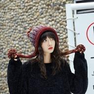 ★毛帽針織帽-彩色毛球捲邊護耳男女帽子6色73ug22【獨家進口】【米蘭精品】