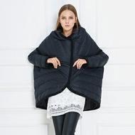羽絨外套斗篷夾克-冬季時尚保暖創意女外套73pv17【獨家進口】【米蘭精品】