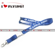 UGG Flight | Europe Airbus A380 Civil Aviation Flight Unit Air Crew Boarding ID Card Lanyard