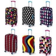LALANG กระเป๋าถือเดินทางฝาครอบกันฝุ่นกระเป๋าเดินทาง antifouling ฝาครอบป้องกันลายคลื่นหยักสำหรับ 18-20 นิ้ว (Multicolor) - INTL