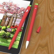APEC เคส Apple Pencil Gen 2, Apple Pencil 1 Case, Pencil Silicone Case 2 ป้องกันการสูญหาย, แครอทแครอทการ์ตูนน่ารักแครอท Case Pencil Gen 1