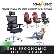 Sail Ergonomic Chair Series ★ Alternative Gaming Chair ★ Flexible Lumbar Support ★ Mesh Office Chair