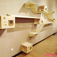 實木DIY貓咪壁掛式跳台 貓吊橋軟梯【K00003】