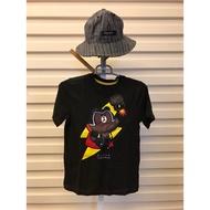 韓國Line Friends 熊大 男童短袖T恤上衣 黑色