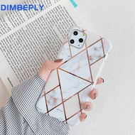 DIMBEPLY Marble Soft Case for iphone X XR XS Max 11 11 Pro / 11 Pro Max Plating Silicon TPU Back Cover For Apple iphone 6 6s 7 8 Plus Shockproof Cases