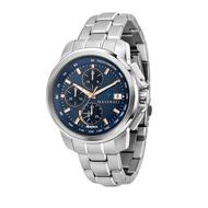 MASERATI 瑪莎拉蒂 SUCCESSO 光動能三眼計時腕錶44mm(R8873645004)