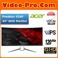 [Latest Model] Predator X34P 34-Inch UltraWide QHD IPS Curved Monitor / 120Hz / HDMI / Local Stock!