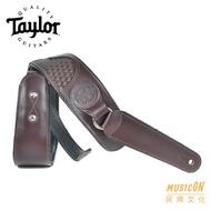 【民揚樂器】吉他背帶 Taylor Basketweave 編織 深咖啡 圓標
