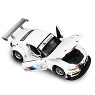【玩具】彩珀成真車模1:24寶馬Z4 GT3 運動型賽車 合金聲光模型兒童玩具車