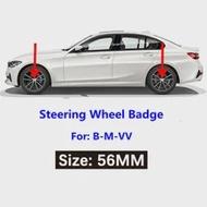 1Pcs 56Mm ล้อรถยาง Center สติกเกอร์รถ Hubcaps สติกเกอร์สำหรับ BMW M3 M4 M5 M6 X1 X3 x5 X6 E90 E92 E93 F20 F21รถอุปกรณ์เสริม