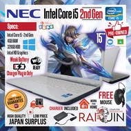 LAPTOP - NEC Intel Core i5 - 2nd Gen / 4GB RAM / 320GB HDD - FREE MOUSE -WEAK BATTERY CHARGER PLUG IN ONLY -  WORK FROM HOME