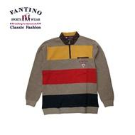 【FANTINO】男裝 休閒粗條紋POLO衫  441342