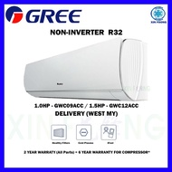 Gree R32 Aircond Non-Inverter 1.0hp-1.5hp Air Conditioner Queen Series