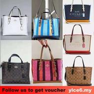 【Local Stock】4250 4085 4086 Coach Women Mollie tote bag with zipper compartment single shoulder bag handbag messenger b