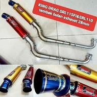 King drag SRL115FI SRL110 tembak bulan exhaust  yamaha lagenda 110 115fi  open exhaust