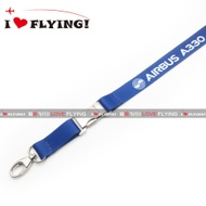 UGG Flight | Europe Airbus A330 Civil Aviation Flight Unit Air Crew Boarding ID Card Lanyard
