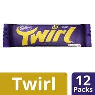 Cadbury Dairy Milk Twirl Chocolate Pack of 12 39g each