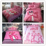 『免運優惠』動漫 粉色系列 可愛頑皮豹 純棉床包三/四件套 (床包+床套+枕套)單人床包 雙人床包 粉紅豹 床墊 床單