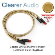 CLEARER AUDIO COPPER-LINE ALPHA INTERCONNECT SPECIFICATION 2M ( Eichmann Bullet RCA )