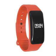 Bluetooth Smart Bracelet C1 Wrist Band With Heart Rate BloodPressureTest IP67 Waterproof Sleep Monitor for Androind Ios(Orange) - intl