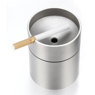 Stainless Steel Car Ashtray Smokeless Auto Cigarette Ashtray Ash Holder Creative Windproof Business Gift Car Car With Lid Ashtray