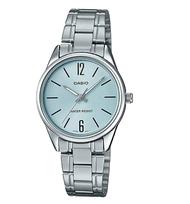 นาฬิกา รุ่น นาฬิกาข้อมือคู่รัก CASIO แท้ นาฬิกาคู่ชาย-หญิง Casio สายสายสแตนเลส รุ่ง MTP-V005D-2B1&LTP-V005-2B *สินค้าใหม่ พร้อมส่ง จากร้าน MIN WATCH