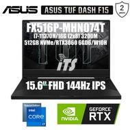 """ASUS TUF DASH F15 (2021) FX516P-MHN074T Gaming Laptop (i7-11370H/16GB/512GB SSD/RTX3060 6GB GDDR6/15.6""""144Hz IPS)"""