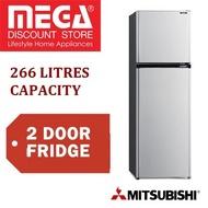 MITSUBISHI MR-FV32EJ 266L 2 DOOR FRIDGE  / 1 YEAR WARRANTY