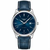 LONGINES 浪琴表 L28934920 巨擘優雅經典真皮腕錶/藍面42mm