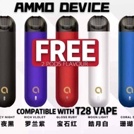 🌈RELX™•AMMO T28 VAPE STARTED KIT➕FREE 2 POD FLAVOUR✅RELX INFINITY,SNOW WHITE,DD,FLOW,MATCH,SP2S