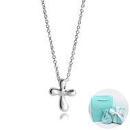 Tiffany&Co. Elsa Peretti Mini 圓潤十字架純銀項鍊