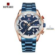 REWARD63080男士手錶 鋼帶手錶 日歷男錶 六針手錶 防水石英錶#潮人館